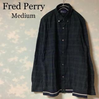 フレッドペリー(FRED PERRY)のFred Perry ボタンダウン シャツ チェック柄 みどり 刺繍 UKロック(シャツ)