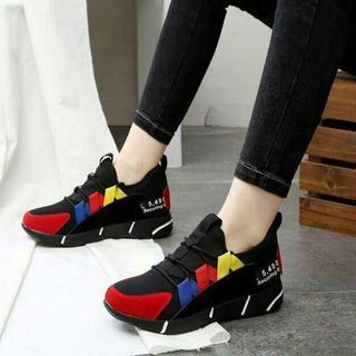 厚底スニーカーレディース通学ローヒール旅行スポーツ靴美脚かわいい新品靴(サンダル)