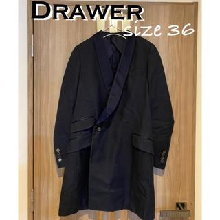 Drawer - ドゥロワー Drawer サイズ36 S 黒×ネイビー コート
