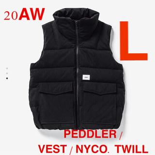 W)taps - PEDDLER / VEST / NYCO. TWILL 黒 L
