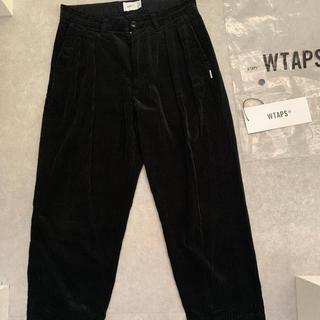 ダブルタップス(W)taps)の専用 19aw  wtaps corduroy tuck ブラック 01(スラックス)