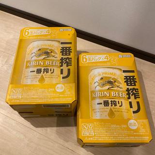 キリン(キリン)の一番搾り 350ml 24本(1ケース) 500ml 24本(1ケース)(ビール)
