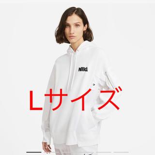 sacai - Lサイズ Nike x sacai Hoodie white フーディー