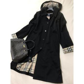 バーバリー(BURBERRY)の美品 バーバリー ロンドン  コート ブラック 黒(ロングコート)