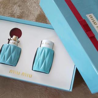 ミュウミュウ(miumiu)のmiu miu ミュウミュウ オードパルファム&ボディローション コフレセット(香水(女性用))