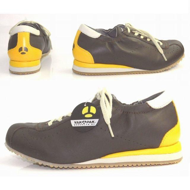 YAK PAK(ヤックパック)の23.5cm🔸本革 スニーカー 茶 レースアップ☆YP705BR23.5 レディースの靴/シューズ(スニーカー)の商品写真