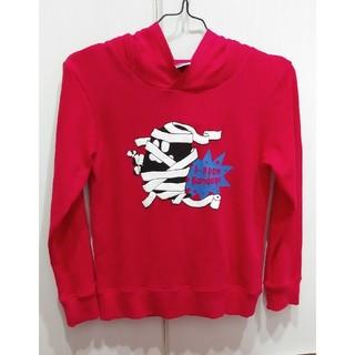 ナルミヤ インターナショナル(NARUMIYA INTERNATIONAL)のb-ROOMレッドオバケプリントパーカー130(Tシャツ/カットソー)