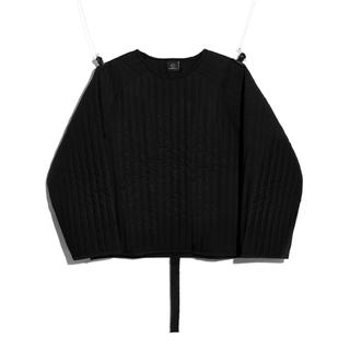 PEACEMINUSONE - PMO PADDED PULLOVER #1 BLACK
