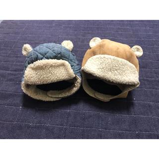 babyGAP - 双子 ベビーギャップ  ボア キルト 帽子 くま耳