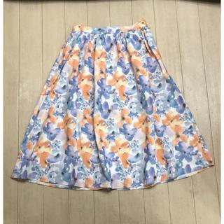 dazzlin - dazzlin*flowerフレアスカート*オレンジ*新品