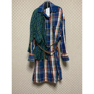 カラー(kolor)のkolor チェックドレス1(ひざ丈ワンピース)