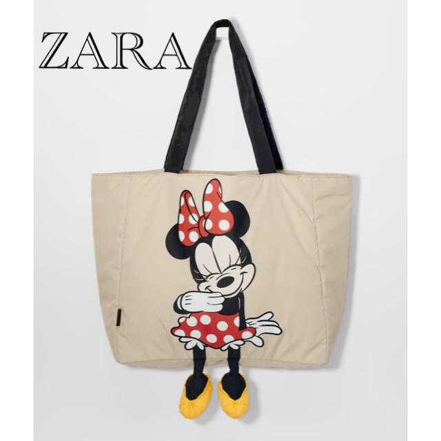 ZARA(ザラ)の新品 未使用 タグ付き ZARA ×Disney コラボ トートバッグ ミニー レディースのバッグ(トートバッグ)の商品写真