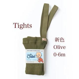 コドモビームス(こども ビームス)のSILLY Silas シリーサイラス olive 0-6m tights(靴下/タイツ)