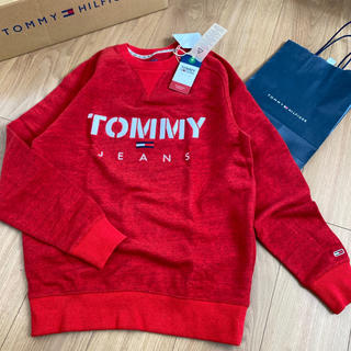 TOMMY HILFIGER - tommy jeans 新品 刺繍ロゴ トレーナー スウェット