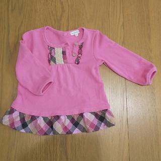 サンカンシオン(3can4on)の3can4on トレーナー 90 ピンク 女の子(Tシャツ/カットソー)