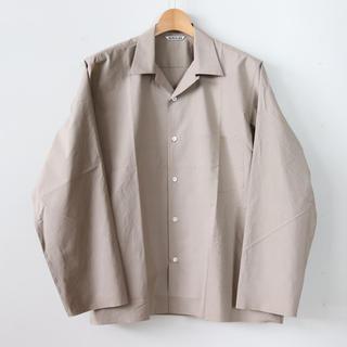 COMOLI - AURALEE 18ss オープンカラーシャツ ベージュ サイズ3