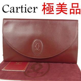 カルティエ(Cartier)のカルティエ 極美品 マストライン 2C レザー クラッチ セカンド バッグ(クラッチバッグ)