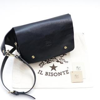 イルビゾンテ(IL BISONTE)の新品 イルビゾンテ ボディバッグ ウエストバッグ ショルダー レザー ブラック(ボディーバッグ)