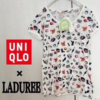 ラデュレ(LADUREE)のユニクロ×LADUREE 新品 半袖Tシャツ パフスリーブ(Tシャツ(半袖/袖なし))