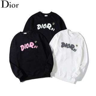 クリスチャンディオール(Christian Dior)の二枚9800円ディオールDiorロゴ 刺繍 トレーナー長袖在庫あり(トレーナー/スウェット)