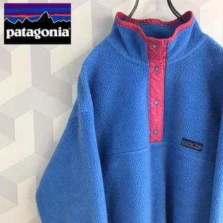 patagonia - 【patagonia】好配色 シンチラ スナップT フリースプルオーバー ブルー
