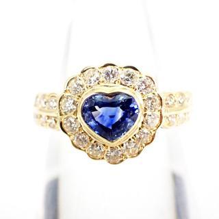 K18 サファイア ダイヤモンド リング 8号[g305-3](リング(指輪))