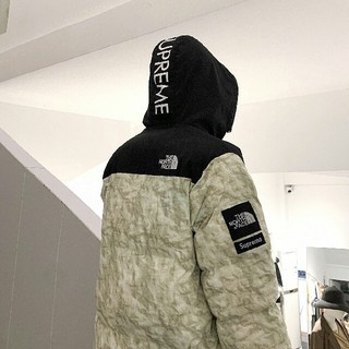 THE NORTH FACE - The North Face Paper Print Nuptse Jacket