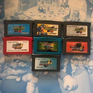 ゲームボーイアドバンス(ゲームボーイアドバンス)のロックマンエグゼ 1-6+4.5 セット(携帯用ゲームソフト)