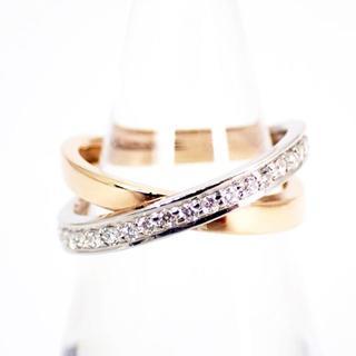 ヴァンドームアオヤマ(Vendome Aoyama)のヴァンドーム K18/PT 900 ダイヤモンドリング 8.5号[g305-8](リング(指輪))