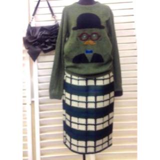 ユナイテッドアローズ(UNITED ARROWS)のユナイテッドアローズ ジャガードスカート(ひざ丈スカート)