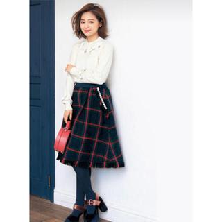 Chesty - Chesty×chay♡コラボ パール×チェック柄スカート サイズ0