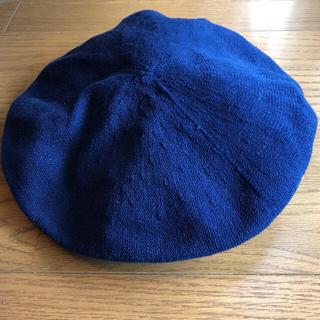ユニクロ(UNIQLO)のベレー帽 2個 黒、紺 未着用(ハンチング/ベレー帽)