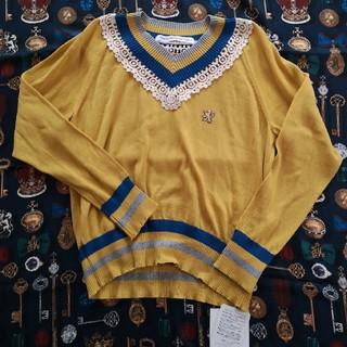 JaneMarple - 未使用☆Lace trimming cricket sweater
