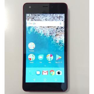 京セラ - 6836 京セラ androidone スマートフォン S2 レッド 初期化済