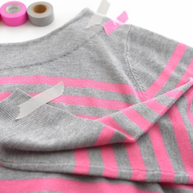 Chesty(チェスティ)のakiki 井上晃子 ボーダー リボン ニット レディースのトップス(ニット/セーター)の商品写真