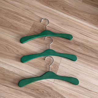 キッズ木製ハンガー グリーン