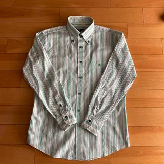 バーバリーブラックレーベル(BURBERRY BLACK LABEL)の美品 バーバリーブラックレーベル メンズシャツ Lサイズ ストライプ柄(シャツ)