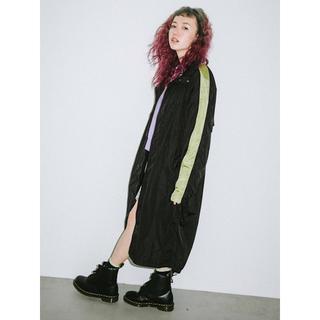 エックスガール(X-girl)の新品 定価19800円 エックスガール ナイロン モッズコート 黒 ブラック 2(ロングコート)