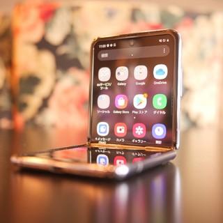 Galaxy - galaxy Z Flip 256GB SCV47 ミラーパープル★ジャンク品★