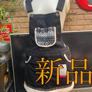 ピンクラテ(PINK-latte)の新品ピンクラテサロペットスカート定価3675サイズXS(ミニスカート)