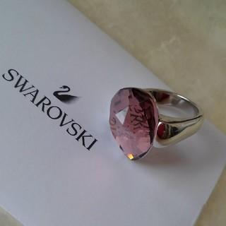 SWAROVSKI - サイズ55◇スワロフスキーリング◇イチゴジャム色