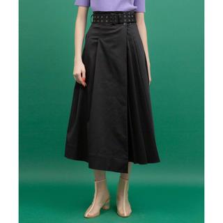 STUDIOUS - UNITED TOKYO アシメラッププリーツスカート