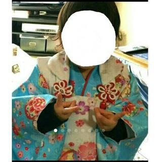 七五三 着物 3歳 6点セット 水色 お正月(和服/着物)