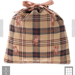 メゾンドフルール(Maison de FLEUR)の新品 メゾンドフルール ベア刺繍巾着(ポーチ)
