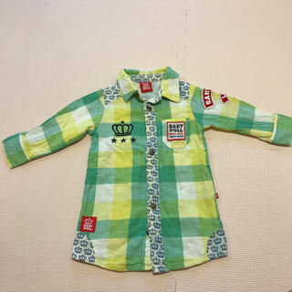 ベビードール(BABYDOLL)のベビードール baby doll 80サイズ チェックシャツ(シャツ/カットソー)
