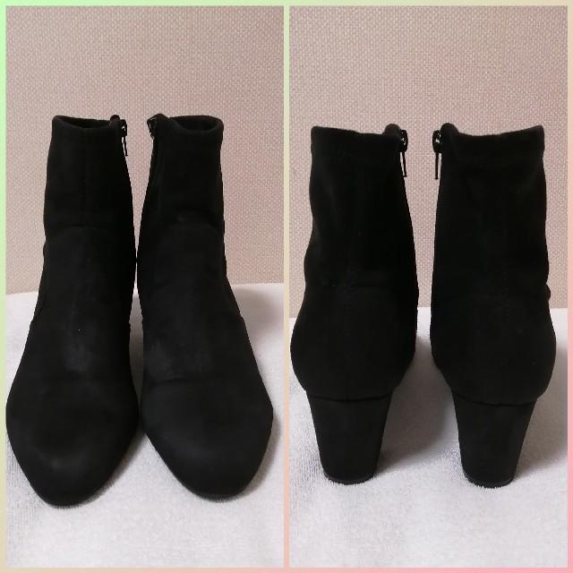 JELLY BEANS(ジェリービーンズ)のJELLY BEANS スエード調ブーツ 黒 レディースの靴/シューズ(ブーツ)の商品写真