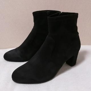 ジェリービーンズ(JELLY BEANS)のJELLY BEANS スエード調ブーツ 黒(ブーツ)