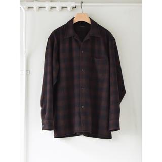 コモリ(COMOLI)のCOMOLI 20AW新作 ウールチェックオープンカラーシャツ サイズ3 新品(シャツ)