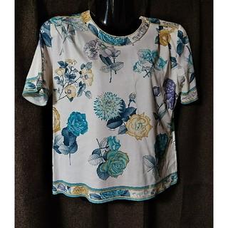 レオナール(LEONARD)のLEONARD  カットソー ブルー 花柄(カットソー(半袖/袖なし))