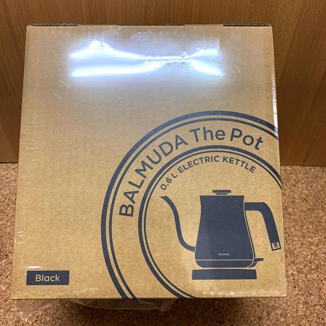 BALMUDA(バルミューダ)の電気ケトル BALMUDA The Pot K02A–BK 新品未開封 スマホ/家電/カメラの生活家電(電気ケトル)の商品写真